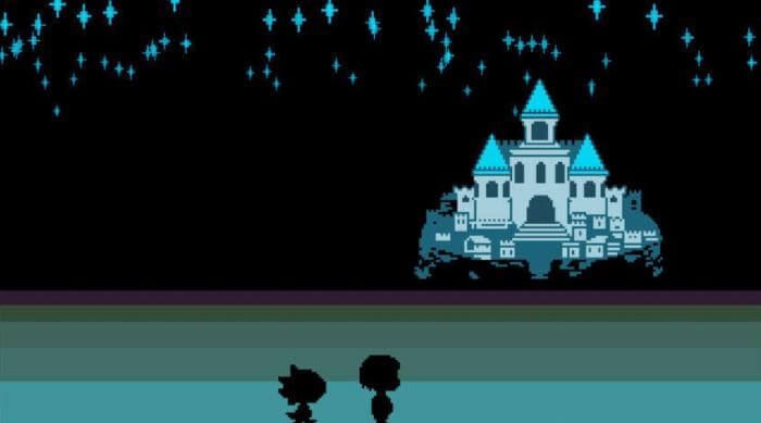 Undertale: Castle with monster kid