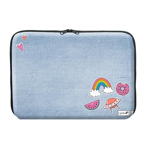 Yoobi denim laptop case