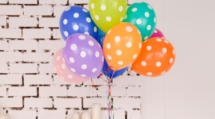 Balloons for a party