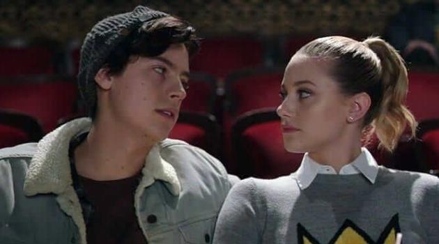 Betty and Jughead on a date at the movies