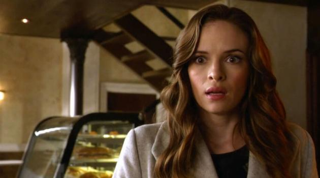 Caitlin Snow looking confused on an episode of The Flash