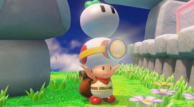 Captain Toad: Treasure Tracker - Captain Toad lifts a turnip