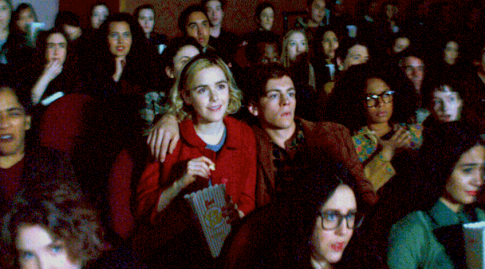 Chilling Adventures of Sabrina: Sabrina and Harvey in a movie