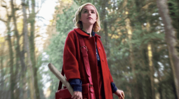 Chilling Adventures of Sabrina: Sabrina standing in the woods