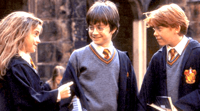 Emma Watson, Daniel Radcliffe, and Rupert Grint in Harry Potter