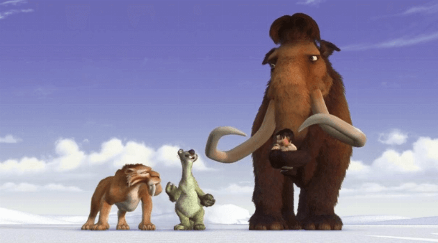 Ice Age: Mammoth, Sloth, tiger, baby