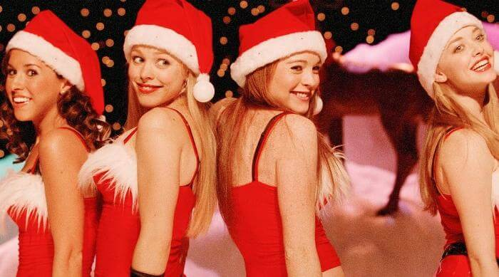 The Plastics' Christmas performance in Mean Girls