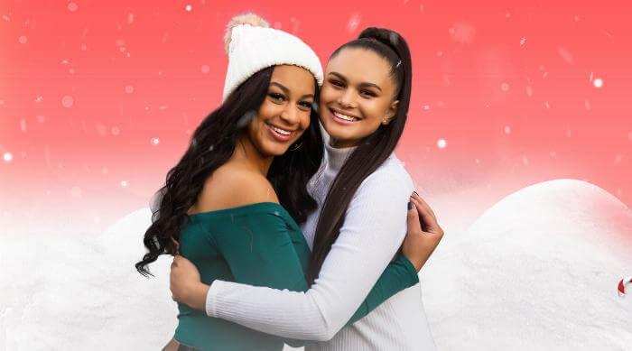 "Nia Sioux and Lela B ""Best Christmas"" artwork"