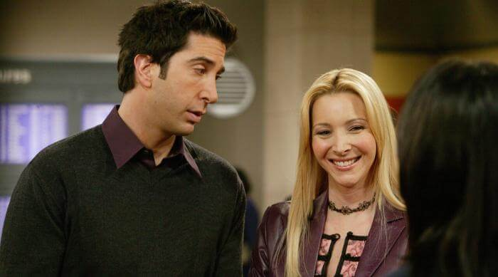 Phoebe and Ross together on Friends