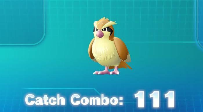 Pokémon: Let's Go Eevee - Pidgey Catch Combo 111