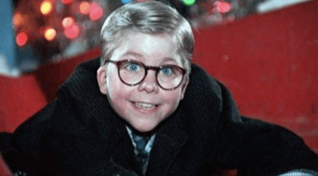 A Christmas Story: Ralphie on the slide