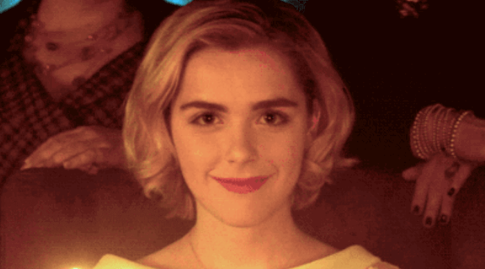 Chilling Adventures of Sabrina: Sabrina lit up by birthday candles