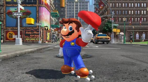 Super Mario Odyssey: Mario twirls Cappy