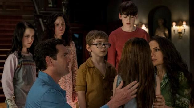 The kids confronting a distraught Nell in The Haunting of Hill House