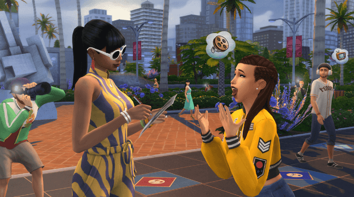 The Sims Get Famous: Meeting a celebrity