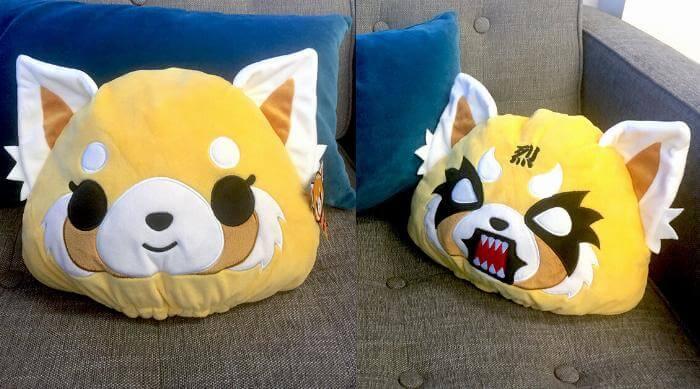 Aggretsuko pillow: both faces