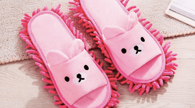 Bear mop slippers