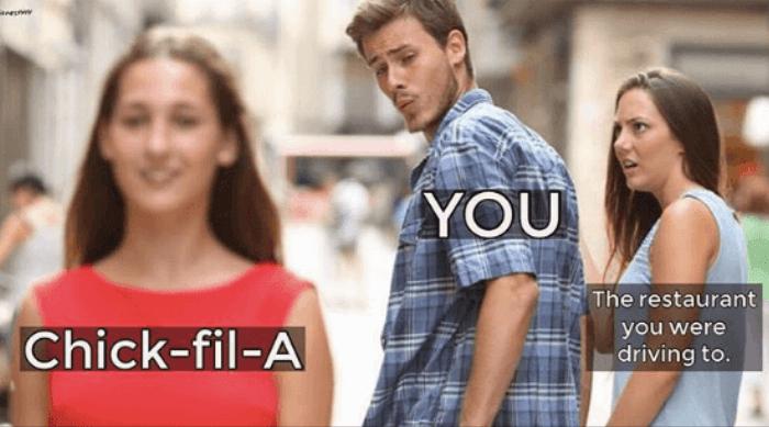 Chick-fil-A bad boyfriend meme