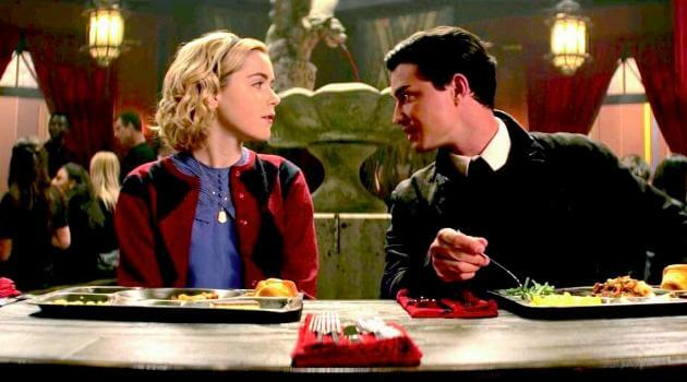 Chilling Adventures of Sabrina: Sabrina and Nick talk over lunch