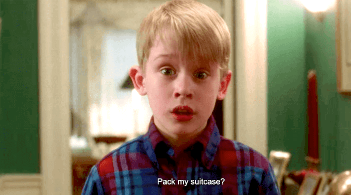Home Alone: Kevin can't pack his suitcase