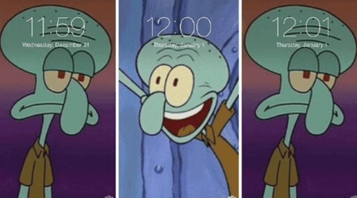 Squidward Celebration Meme