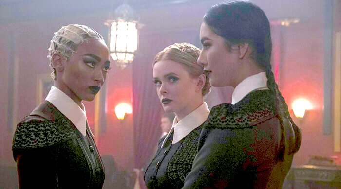 The weird sisters from Chilling Adventures of Sabrina