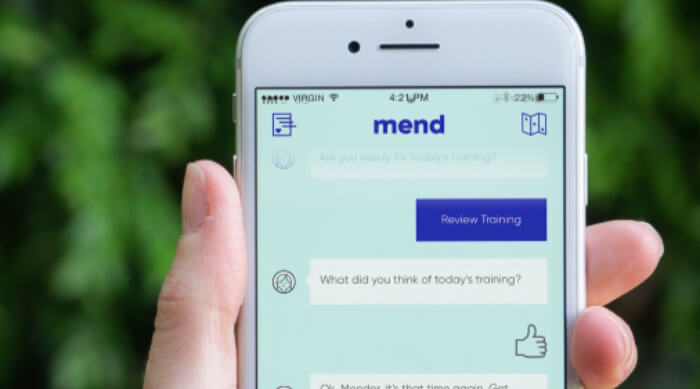 mend app on phone