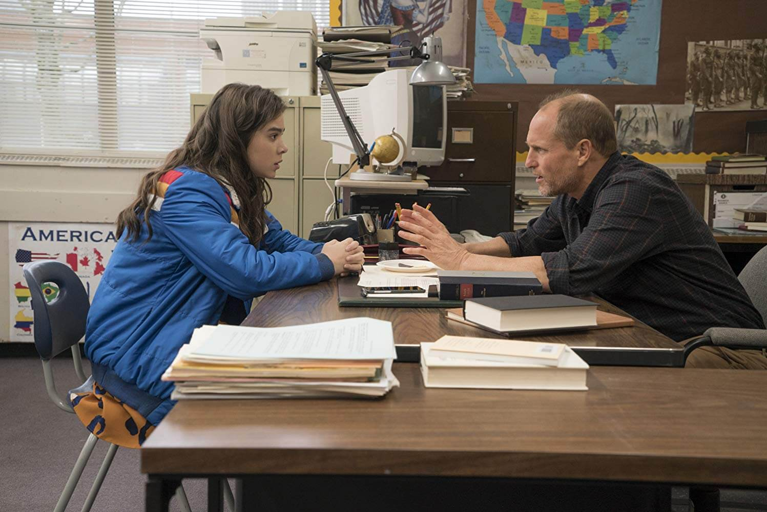 Nadine and Mr. Bruner in The Edge of Seventeen