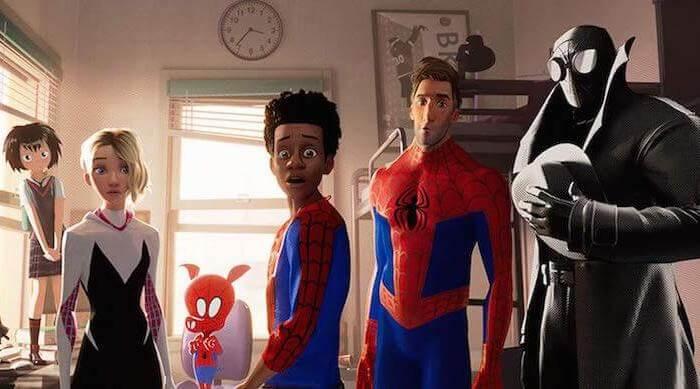 Spider-Men in Spider-Man: Into the Spider-Verse