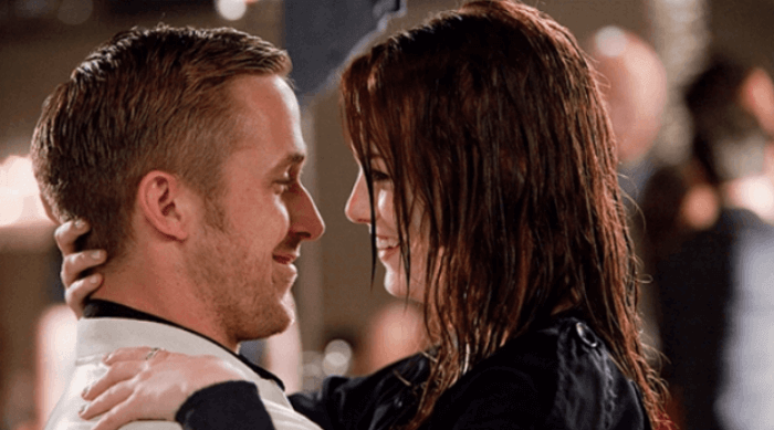 crazy stupid love - emma stone and ryan gosling kissing