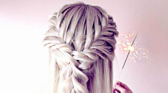 Instagram: Fishtail braids grey