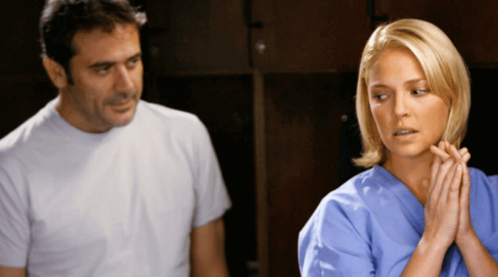 Grey's Anatomy: Izzie standing near Denny's ghost