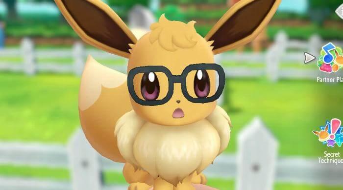 Pokémon: Let's Go Eevee - Eevee with glasses