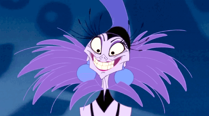 emperors new groove - yzma smiling