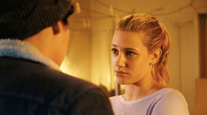 riverdale - betty staring at jughead