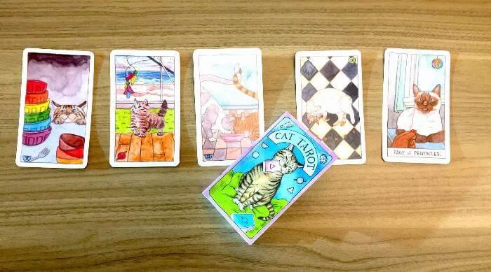 Review of Megan Lynn Kott's Hand-drawn Cat Tarot Card Deck
