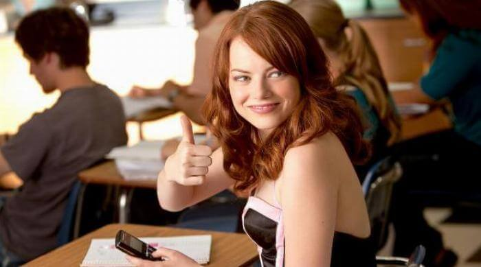 easy a - olive giving a thumbs up