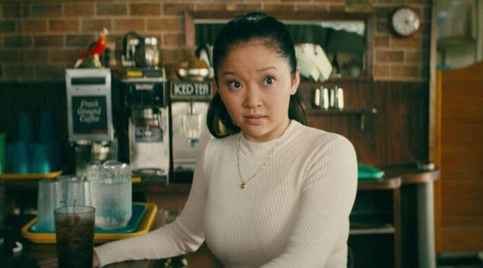 Lara Jean Covey shocked to see Peter in the diner in To All the Boys I've Loved Before