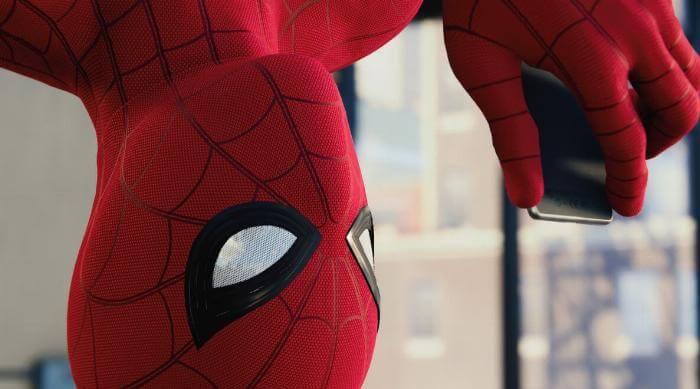 Marvel's Spider-Man: Texting upside down