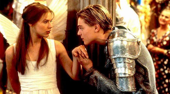 Romeo and Juliet 1986: Claire Danes and Leonardo DiCaprio at Halloween masquerade