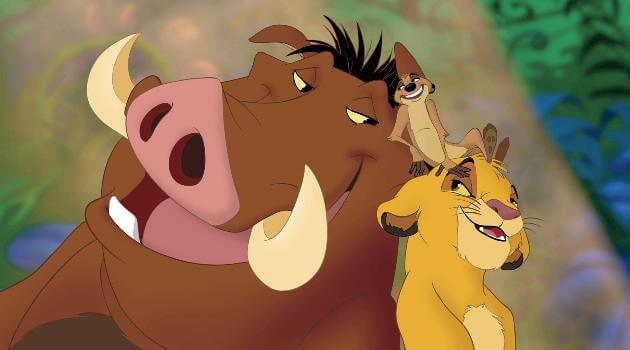 The Lion King's Timon, Pumbaa and Simba