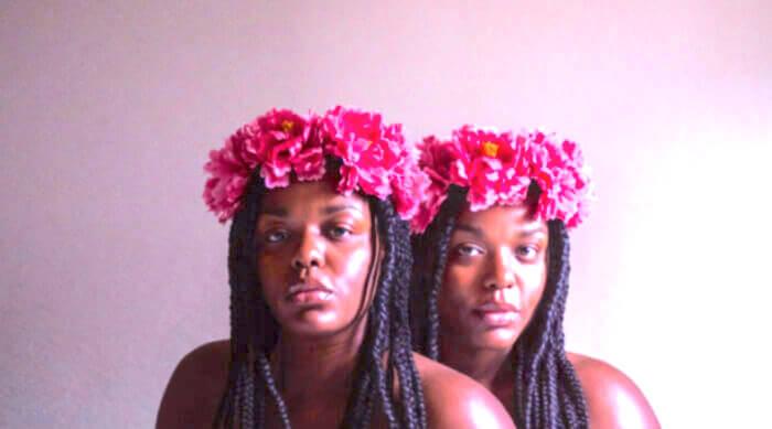 best friends with flower crown