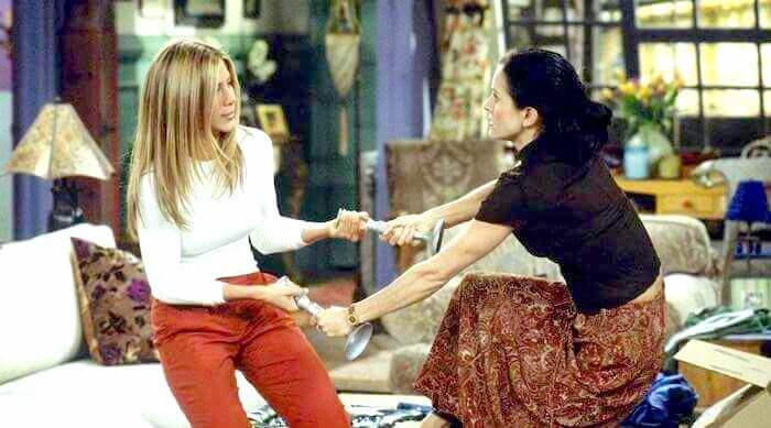 Rachel and Monica in Friends