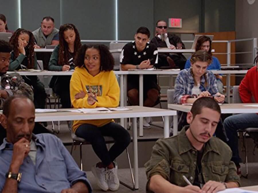 Zoe Johnson in a College Class