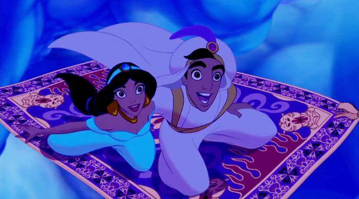 Aladdin: Aladdin and Jasmine on a magic carpet ride