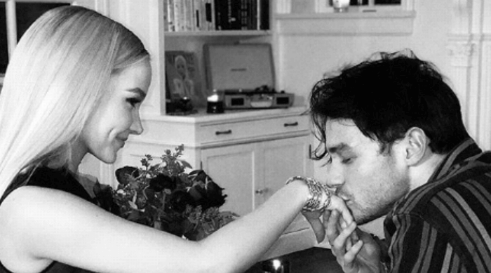 dove cameron boyfriend kissing her hand instagram