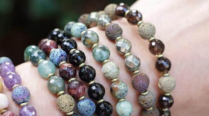 Instagram: Lovepray layered aromatherapy bracelets