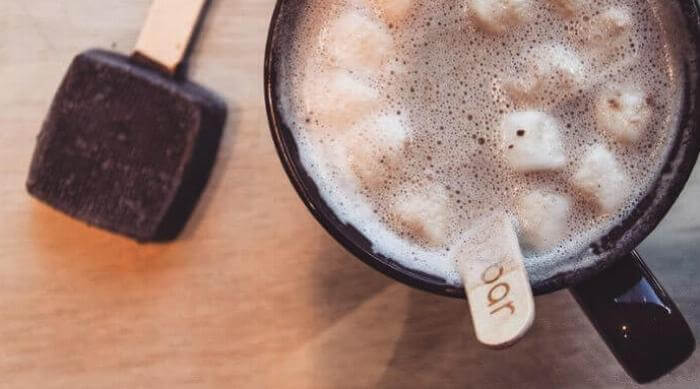 Instagram: Popbar Hot Chocolate on a Stick in a mug