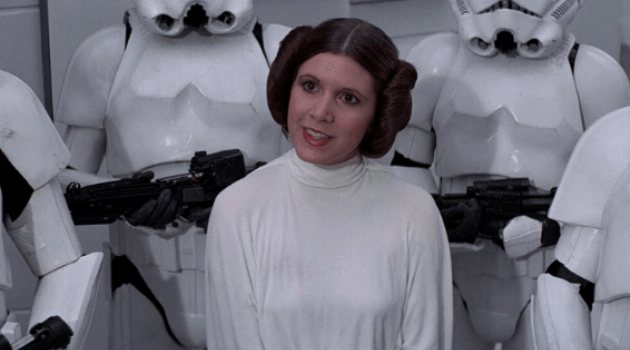 Star Wars: A New Hope - leia being arrested by storm troopers