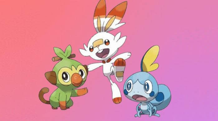 Pokémon Sword and Shield: Grookey, Scorbunny and Sobble